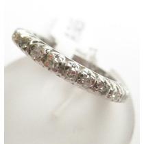 Feliz32 - Magnífica Aliança Inteira De Diamantes 1,00 Cts