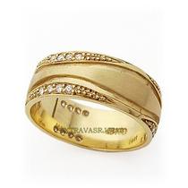 Par De Alianças Em Ouro Amarelo 18k+diamantes De 1ponto