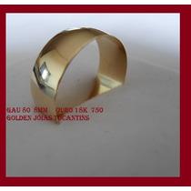Aliança De Ouro 18k 750 Abaulada 8mm Com 10 Gramas Gau 80