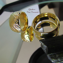 Aliança Love Ouro Banho 18k 9mm Ojoalheiro