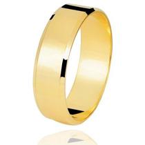 Par De Alianças Em Ouro 18k 750 6 Mm 6 Gramas O Par