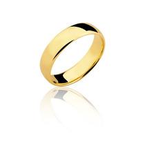 Aliança Lefine Prata Com Banho De Ouro 18k E Pedra Zircônia
