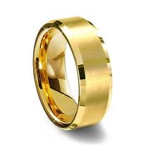 Par De Aliança De Tungstênio 8mm Folheada Ouro Sedex Grátis
