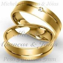 Par De Aliança Ouro 18k 5m 5gra Casamento,noivado