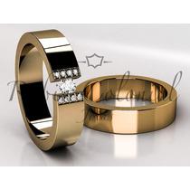 Alianças Em Ouro E Diamantes De Qualidade, Casamento. Luxo.