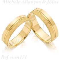 Par De Aliança Ouro 18k 5m 5 Gramas Casamento, Noivado