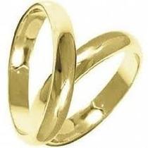 Par De Alianças Em Ouro 18k (750) 3.0 Gramas