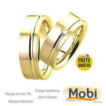 Par Alianças Ouro 18k - 14 Gramas 10mm Noivado E Casamento
