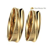 Par Alianças Ouro 18k 5mm 12 Grs Noivado E Casamento Concava