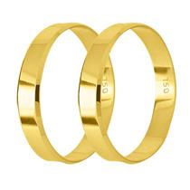 Par De Alianças Ouro 18k 4mm 4,5 Gramas - Frete Grátis