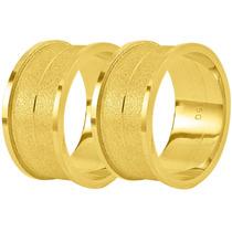 Par De Alianças Ouro 18k 10mm 15 Gramas - Frete Grátis