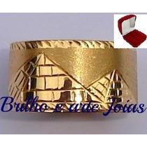 Anel / Aliança Ouro 18k.10mm 3,5 Gr.garantia Eterna + Brinde