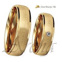 Par De Alianças De Casamento Ouro 18k Garantia 14 Gramas 5mm