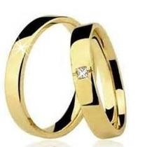 Par Alianças Ouro 18k/750 4gr + Brinde Casamento/noivado