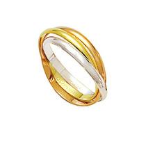 Aliança Entrelaçada De Ouro, Ouro Vermelho E Ouro Branco 18