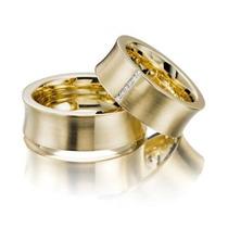 Par Alianças 14 Grs Ouro18k/ 750 Diamantes 6 X Sem Juros!!!