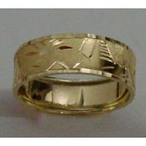 Anel Aliança Escrava Desenho Egipcio Ouro18k 750 6mm 1,7grm