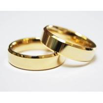 Par De Alianças Cor De Ouro Feitas Com Moeda Antiga 6mm