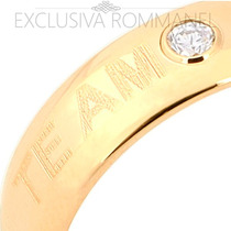 Rommanel Anel Aliança Zirconia Casamento F Ouro 18k 511523