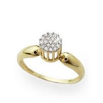 Anel Pavê Ouro 18k 750 C/diamantes-jr Aliança E Joias