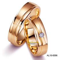 Alianças De Casamento Ouro Amarelo Com Diamantes 7 Mm