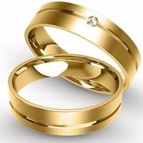 Par Alianças Ouro Amarelo Com 5grs Brilhante E Sedex Gratis!