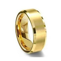 Aliança Tungstênio Banhada Ouro 18k Anatômica 6mm