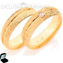 Rommanel Aliança Anel Ouro 18k Folheada Casamento 511527