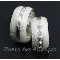 Par De Alianças Prata 950 10mm Anatômicas Frete Grátis!!!