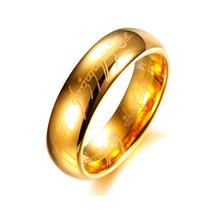 Aliança Tungstênio Amor Élfico Senhor Dos Anéis Anatômica