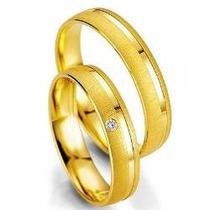 Par Alianças 6 Grs Ouro 18k/ 750 Diamantes Frete Nota Fiscal