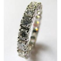 Aliança Inteira De Diamantes Em Ouro Branco 18k!!