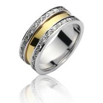 Par De Aliança Ouro Branco E Amarelo 18k ! E Diamantes!
