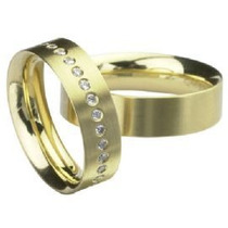 Aliança Grande Amor Em Ouro Amarelo 18 Quilates
