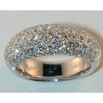 Meia Aliança Ouro 18 Quilate E Diamantes