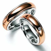 Par Alianças 10 Grs Ouro 18k 750 Diamantes Frete Nota Fiscal