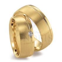 Alianças Ouro 18k Casamento 6mm 10 Gramas O Par C/ Diamantes