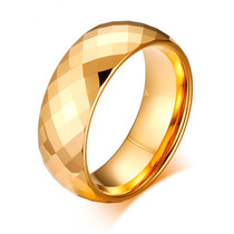 1 Aliança Tungstênio Dourada Grossa Casamento 8.0 Mm 3d