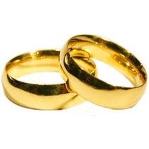 Aliança De Casamento Dourada Barata Com Estojinho.!!!
