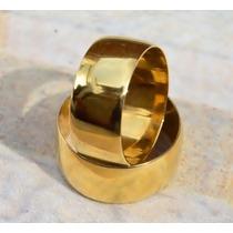 Par Alianças Cor De Ouro 7mm, Feita Com Moedas Antigas