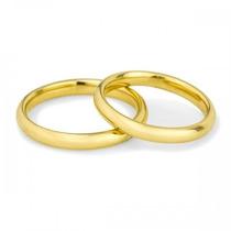 Par Aliança Ouro 18k/750 Casamento Frete Grátis 4gr 2mm