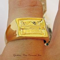 Anel Promeça Arca Da Aliança Ouro 18k Banho Ojoalheiro