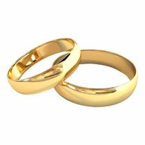 Par Alianças Ouro 18k 4g 5mm Casamento Noivado Casamento!