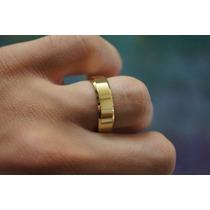 Par De Alianças Reta Cor De Ouro Feitas Com Moeda Antiga 6mm