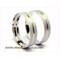 Aliança Ouro Branco 18k-750 5gr(par) Noivado Casamento
