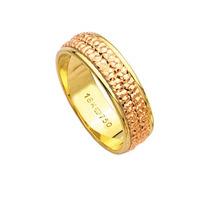 Aliança Giratória De Ouro 18k 750 E Ouro Vermelho Largura 6