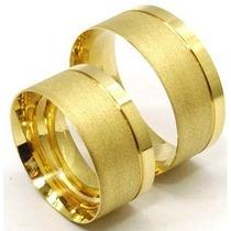 Alianças Belíssima Cor Ouro , Boleado Moeda Antiga Par 12mm