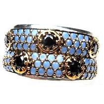 Hoo-anel Aliança Turquia Turco Prata 925 Turquesa Onix