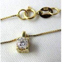Ivi1388 = Colar C/pingente Vivara O.amarelo 18k! Diamante!