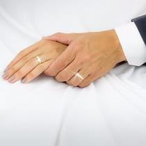Par Alianças Baratas Casamento Noivado Banhadas Ouro 18k 3mm